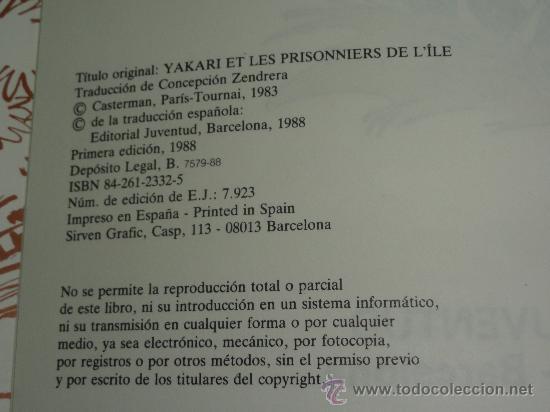 Cómics: YAKARI Nº 9 - ATRAPADOS EN LA ISLA - DERIB Y JOB . EDITORIAL JUVENTUD, TAPA DURA. - Foto 2 - 29710690