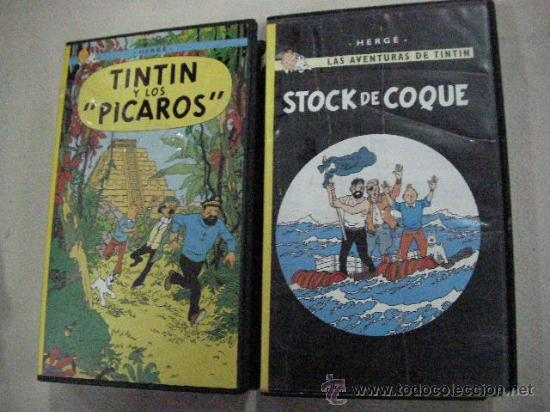 LOTE DE CINTAS DE VIDEO VHS DE TINTIN - ENVIO GRATIS A ESPAÑA (Tebeos y Comics - Juventud - Tintín)
