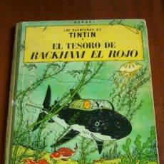 Cómics: TINTIN EL TESORO DE RACKHAM EL ROJO TERCERA EDICION 1965. Lote 30361601