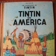 Cómics: TINTIN EN AMERICA HERGE :LOMO DE TELA. Lote 30487657