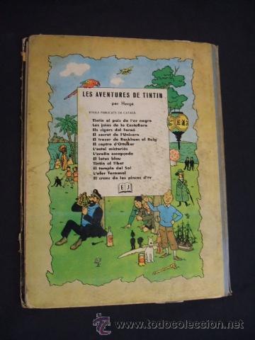 Cómics: LES AVENTURES DE TINTIN - STOC DE COC - PRIMERA (1ª) EDICION - LOMO TELA - EN CATALAN - 1967 - - Foto 2 - 31081519