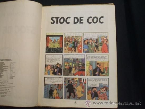 Cómics: LES AVENTURES DE TINTIN - STOC DE COC - PRIMERA (1ª) EDICION - LOMO TELA - EN CATALAN - 1967 - - Foto 13 - 31081519