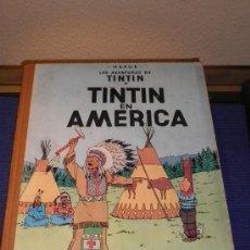 Cómics: LAS AVENTURAS DE TINTÍN, TÍNTIN EN ÁMERICA, PRIMERA EDICIÓN 1968.. Lote 31353884