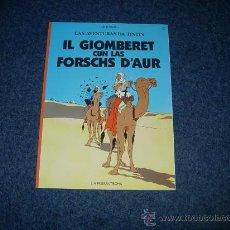 Cómics: TINTIN IDIOMAS - EL CANGREJO DE LAS PINZAS DE ORO - ROMANCHE - SUIZA - RARO. Lote 131302091