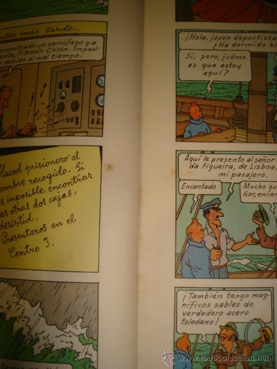 Cómics: LOS CIGARROS DEL FARAON. LAS AVENTURAS DE TINTIN. TERCERA EDICION. 1968. HERGÉ. - Foto 7 - 31408237