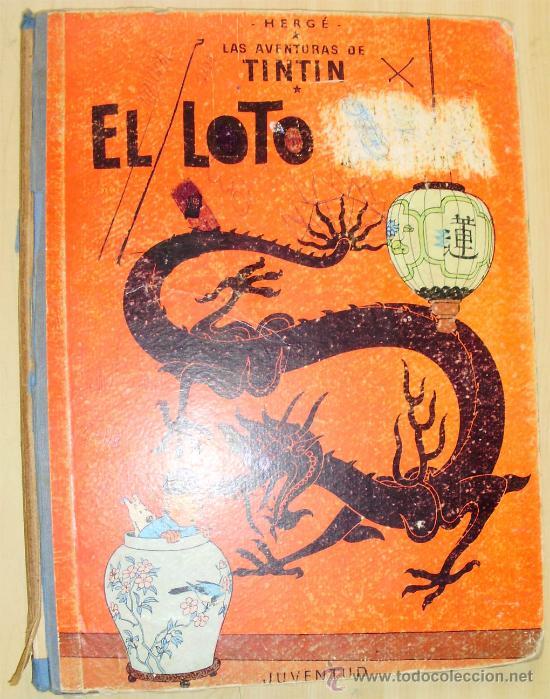 - TINTIN EL LOTO AZUL 1ª EDICION 1.965 EDITORIAL JUVENTUD (Tebeos y Comics - Juventud - Otros)