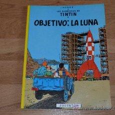 Cómics: TINTIN. OBJETIVO: LA LUNA. Lote 31884612