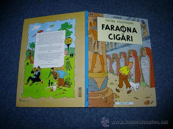 TINTIN IDIOMAS - LOS CIGARROS DEL FARAON - FARAONA CIGARI - LETON - IDIOMA (Tebeos y Comics - Juventud - Tintín)