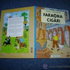 Cómics: TINTIN IDIOMAS - LOS CIGARROS DEL FARAON - FARAONA CIGARI - LETON - IDIOMA. Lote 37163121