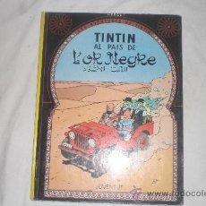 Cómics: TINTIN AL PAIS DE L,OR NEGRE EN CATALA QUARTA EDICIO 1981 . Lote 33993486