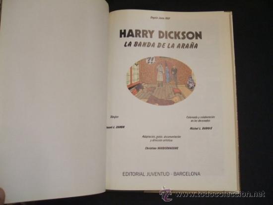 Cómics: HARRY DICKSON - Nº 1 - LA BANDA DE LA ARAÑA - EDIT. JUVENTUD - - Foto 2 - 34345890