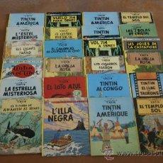 Cómics: LOTE DE 27 COMIC DE TINTIN ANTIGUOS, ALGUNOS EN CATALAN. . Lote 34384892