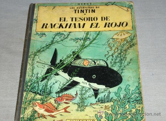 TINTIN EL TESORO DE RACKHAM EL ROJO. JUVENTUD 1971 CUARTA EDICIÓN. (Tebeos y Comics - Juventud - Tintín)