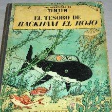 Cómics: TINTIN EL TESORO DE RACKHAM EL ROJO. JUVENTUD 1971 CUARTA EDICIÓN. . Lote 34555443