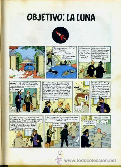 Cómics: TINTIN, OBJETIVO : LA LUNA , JUVENTUD , EDICION 1965 , TAPA DURA, ORIGINAL, H - Foto 2 - 35102337