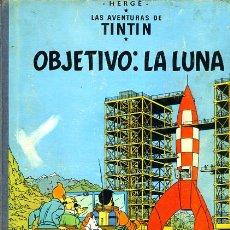 Cómics: TINTIN, OBJETIVO : LA LUNA , JUVENTUD , EDICION 1965 , TAPA DURA, ORIGINAL, H. Lote 35102337