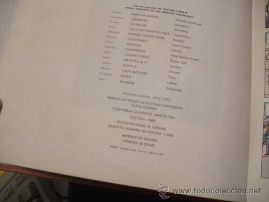 Cómics: LOTE 23 TINTIN + EN EL PAIS DE LOS SOVIETS (1ª) PRIMERA EDICION - LEER INTERIOR - - Foto 34 - 35130158