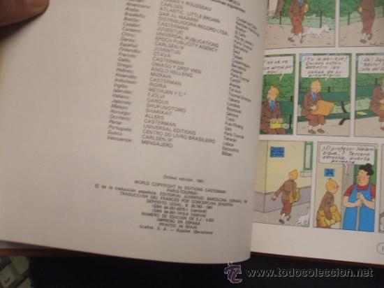 Cómics: LOTE 23 TINTIN + EN EL PAIS DE LOS SOVIETS (1ª) PRIMERA EDICION - LEER INTERIOR - - Foto 91 - 35130158