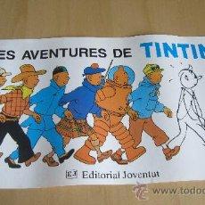 Cómics: POSTER LES AVENTURES DE TINTIN. EDITORIAL JOVENTUT. Lote 36343190