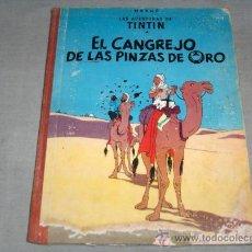Cómics: TINTIN EL CANGREJO DE LAS PINZAS DE ORO PRIMERA EDICIÓN. JUVENTUD 1963.. Lote 40558564