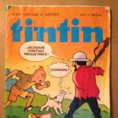 Cómics: TINTIN - AÑO I - Nº 18 / 15 DE MARZO DE 1982 / EDITO. BRUGUERA. Lote 37418998