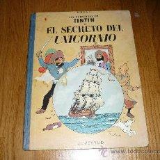 Cómics: LAS AVENTURAS DE TINTIN HERGE EL SECRETO DEL UNICORNIO - 2ª EDICIÓN LOMO TELA AZUL. Lote 37756611