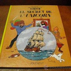Cómics: LIBRO. LAS AVENTURAS DE TINTIN .-EL SECRETO DEL UNICORNIO-ED.JUVENTUD. Lote 37874601