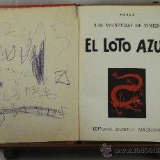 Cómics: 3570- TITNTIN Y EL LOTO AZUL. HERGE. EDIT. JUVENTUD. 1965.. Lote 38367136