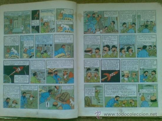 Cómics: Aterrizaje en la Luna (edición 1965) / Hergé. Juventud. Las aventuras de Tintín. - Foto 13 - 38392016