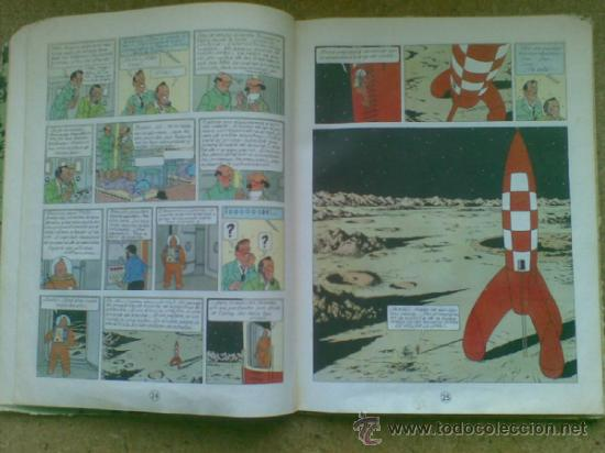 Cómics: Aterrizaje en la Luna (edición 1965) / Hergé. Juventud. Las aventuras de Tintín. - Foto 11 - 38392016