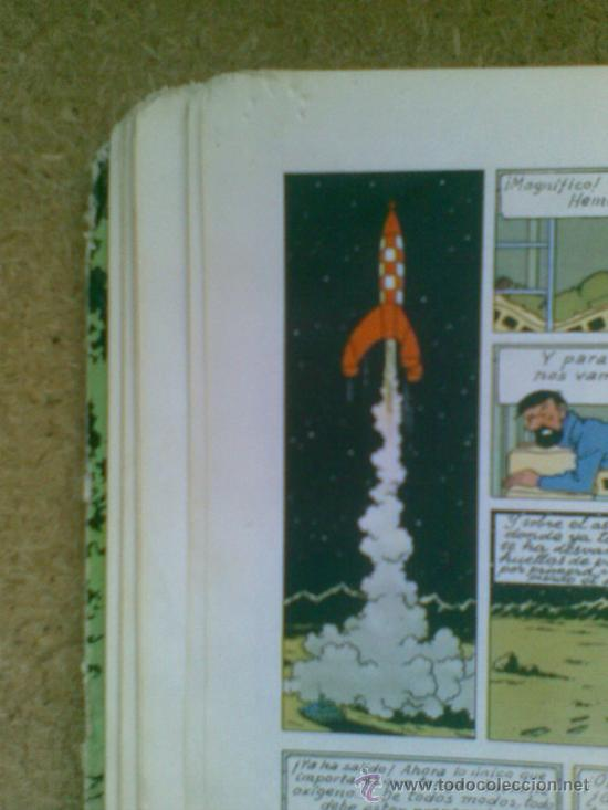 Cómics: Aterrizaje en la Luna (edición 1965) / Hergé. Juventud. Las aventuras de Tintín. - Foto 12 - 38392016
