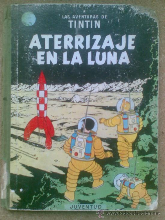 Cómics: Aterrizaje en la Luna (edición 1965) / Hergé. Juventud. Las aventuras de Tintín. - Foto 2 - 38392016