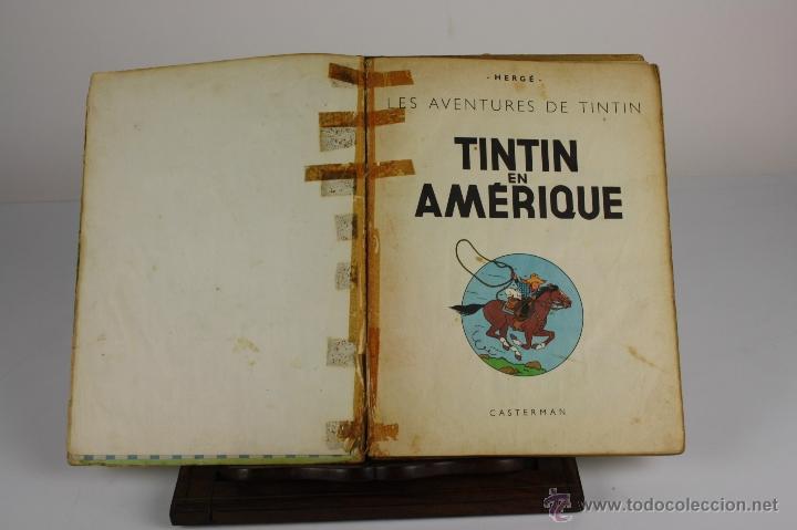 6036- TINTIN EN AMÉRIQUE. HERGE. EDIT. CASTERMAN. 1947. (Tebeos y Comics - Juventud - Tintín)