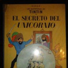 Cómics: TINTIN EL SECRETO DEL UNICORNIO - LOMO TELA JUVENTUD - 4ª EDICION 1968 PLASTIFICADO . Lote 39476348