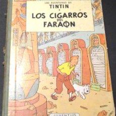 Cómics: LOS CIGARROS DEL FARAÓN LAS AVENTURAS DE TINTÍN HERGÉ EDITORIAL JUVENTUD AÑO 1968. Lote 39775561