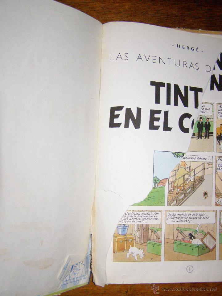 Cómics: Tintin en el Congo - Hergé - Juventud - Muy deteriorado - 1º Edición pero sin editorial - - Foto 3 - 40304451