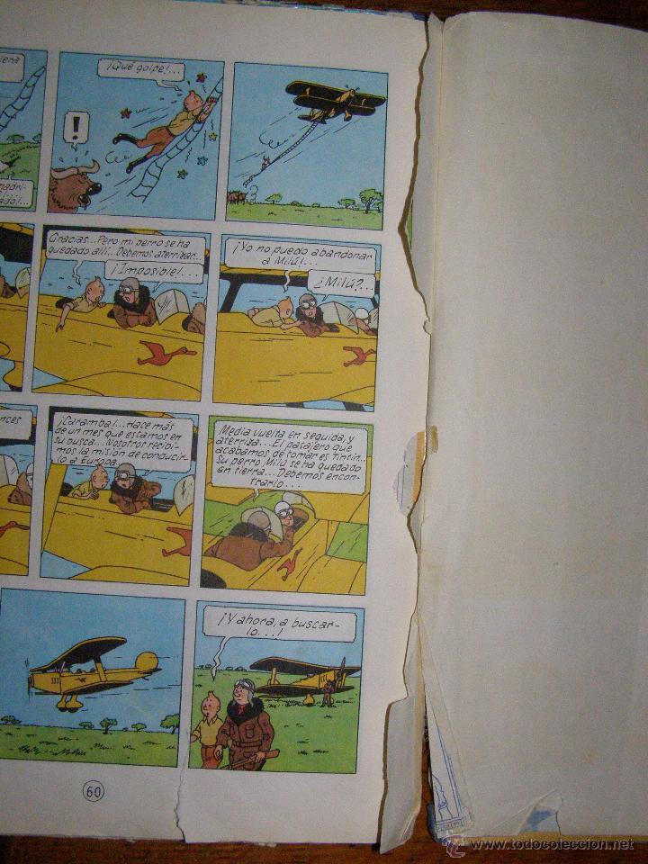 Cómics: Tintin en el Congo - Hergé - Juventud - Muy deteriorado - 1º Edición pero sin editorial - - Foto 6 - 40304451