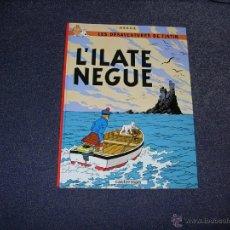 Fumetti: TINTIN IDIOMAS - LA ISLA NEGRA / L'ILATE NEGUE - SANTONES SAINTONGEAIS- SAINTONGE 2013 PRIMERA ED. Lote 53677334