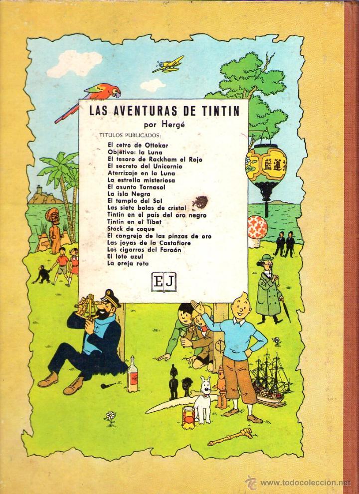 Cómics: LAS AVENTURAS DE TINTIN - HERGÉ - EL ASUNTO TORNASOL - 3ª EDICION -1968 - JUVENTUD - Foto 2 - 40785996