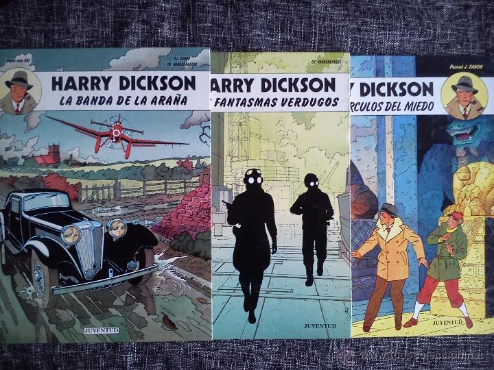 HARRY DICKSON.LOTE 3 COMICS-LA BANDA DE LA ARAÑA-LOS FANTASMAS VERDUGOS-LOS TRES CÍRCULOS DEL MIEDO (Tebeos y Comics - Juventud - Otros)