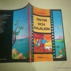 Comics : TINTIN IDIOMAS - LAGO DE LOS TIBURONES - TINTIN OCH HAJSJON - SUECO. Lote 41355247