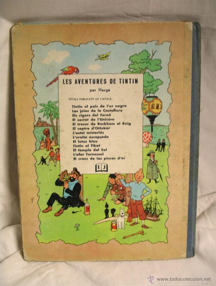 Cómics: Tintin El Cranc de les pinces dOr 1era edición lomo de tela, en catalan - Foto 3 - 41420113