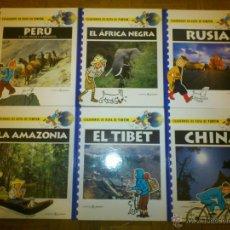 Comics - TINTIN - 6 CUADERNOS DE RUTA COLECCION COMPLETA - PERU RUSIA CHINA TIBET AFRICA AMAZONIA - 41513775