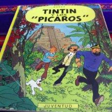 Cómics: TINTIN Y LOS PÍCAROS PRIMERA 1ª EDICIÓN TAPA BLANDA RÚSTICA 1976. JUVENTUD. MUY DIFÍCIL!!!!!!!. Lote 41669882