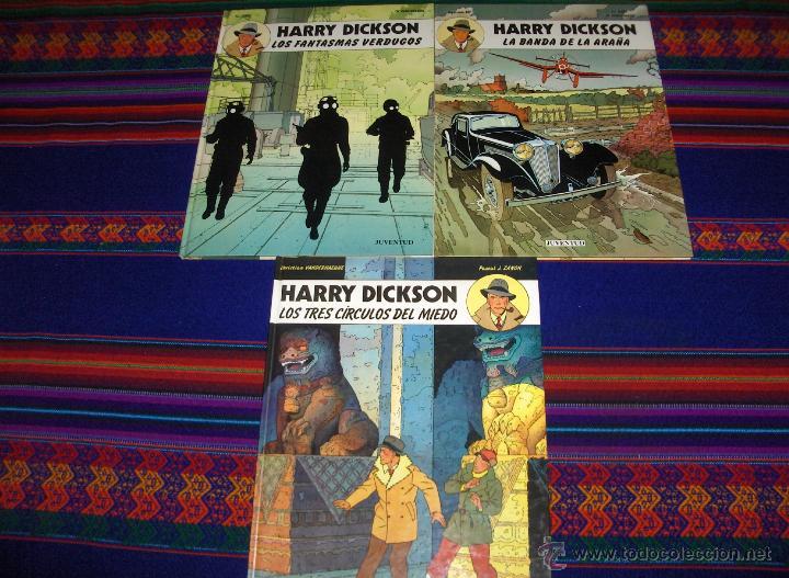 HARRY DICKSON COMPLETA 3 NºS JUVENTUD 1984 BANDA ARAÑA, FANTASMAS VERDUGOS Y TRES CÍRCULOS DEL MIEDO (Tebeos y Comics - Juventud - Otros)