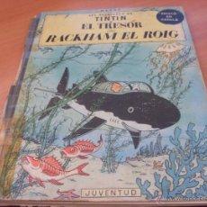 Cómics: TINTIN EL TRESOR DE RACKHAM EL ROIG. TAPA DURA EN CATALAN PRIMERA EDICION 1964 LOMO TELA (CLA4). Lote 42911334