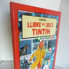 Comics - LLIBRE DE JOCS TINTIN (HERGÉ). ED. JOVENTUD JUVENTUD 1988. EN CATALÁN - 43193435