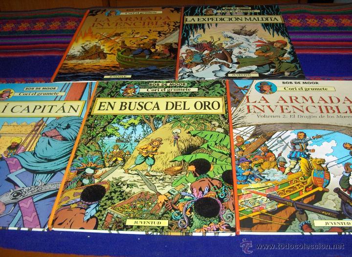 CORI GRUMETE COMPLETA 5 TOMOS ESPÍAS DE LA REINA EL DRAGÓN DE LOS MARES BUSCA DEL ORO DALÍ CAPITÁN (Tebeos y Comics - Juventud - Cori el Grumete)
