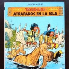Cómics: YAKARI - ATRAPADOS EN LA ISLA - Nº 9 - ED. JUVENTUD - 1ª EDICIÓN 1988 - TAPA DURA NUEVO. Lote 43611840