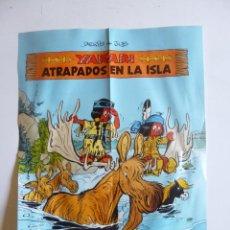 Cómics: POSTER YAKARI ATRAPADOS EN LA ISLA (DERIB Y JOB) ED. JUVENTUD. 38X28.5 CM. Lote 43841943